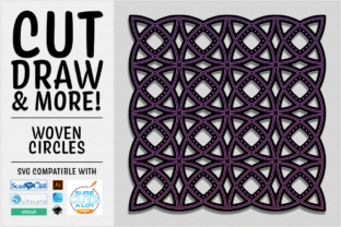 Print on Demand: Woven Circles Cut Draw & More SVG Graphic 3D SVG By gentlemancrafter
