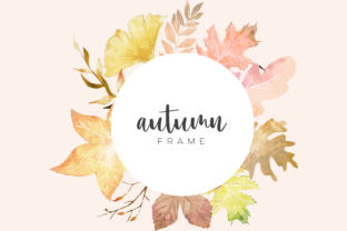 Autumn Watercolor Background Graphic Backgrounds By Dzynee