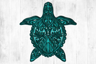 Print on Demand: 3D Layered Turtle Graphic 3D SVG By LightBoxGoodMan
