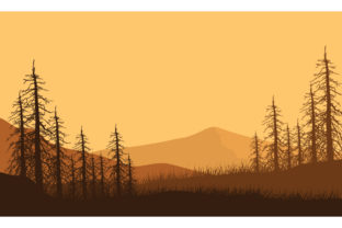 Amazing Mountain Panorama at Dusk Graphic Backgrounds By cityvector91