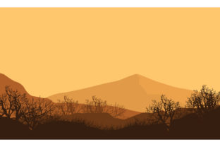Amazing Views of the Mountains at Dusk Graphic Backgrounds By cityvector91