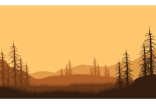 Beautiful Mountain Views at Dusk Graphic Backgrounds By cityvector91