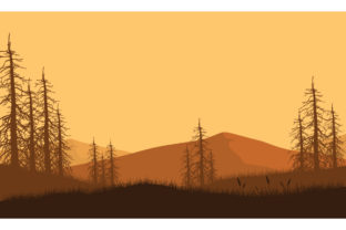 Beautiful Views of the Mountains at Dusk Graphic Backgrounds By cityvector91