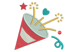 Birthday Cone Birthdays Embroidery Design By Embroiderypacks