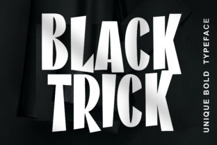 Print on Demand: Black Trick Display Font By fontherapy