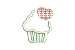 Cupcake Dessert & Sweets Embroidery Design By Embroiderypacks