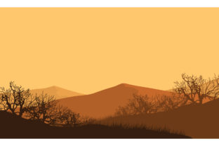 Fantastic Mountain Views at Dusk Graphic Backgrounds By cityvector91