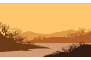 Fantastic Views of the Mountains at Dusk Graphic Backgrounds By cityvector91