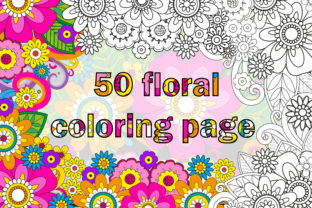 Flower Coloring Book Page Bundle Kdp Graphic Coloring Pages & Books Adults By mi632883