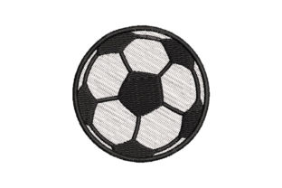 Football Ball Sports Embroidery Design By Embroiderypacks