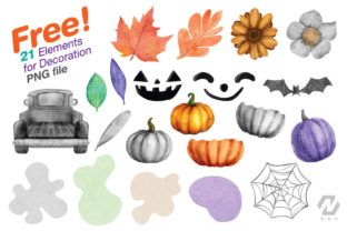 Print on Demand: Gnome Halloween PNG Clipart Bundle Graphic Illustrations By nesdigiart 6