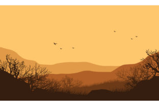 Great View of the Mountains in Afternoon Graphic Backgrounds By cityvector91