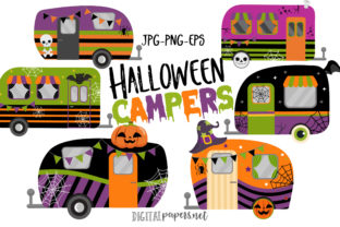 Print on Demand: Halloween Campers Graphic Illustrations By DigitalPapers