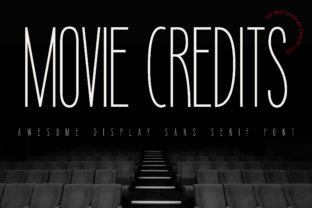 Print on Demand: Movie Credits Sans Serif Font By fontherapy