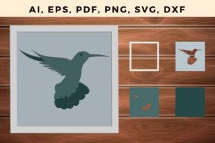 Print on Demand: Multi Layer Bird Frame Wall Cut File Graphic 3D SVG By NGISED