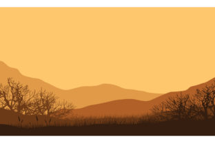 Stunning Mountain Views at Sunset Graphic Backgrounds By cityvector91