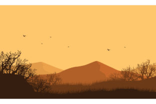 The Beautiful Panorama of the Mountains Graphic Backgrounds By cityvector91