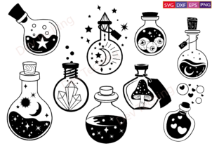 Witches Bottle SVG,Mystical Svg Bundle Graphic Crafts By Dev Teching