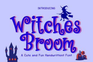 Print on Demand: Witches Broom Display Font By GoodMoodType