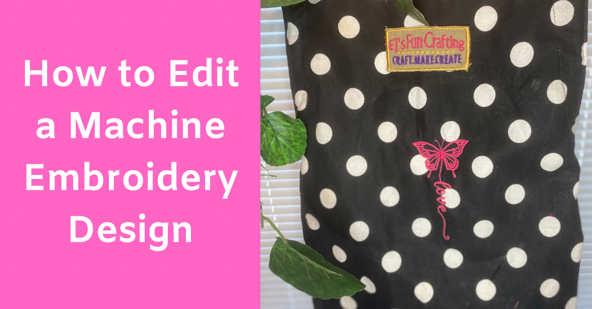 How to Edit a Machine Embroidery Design