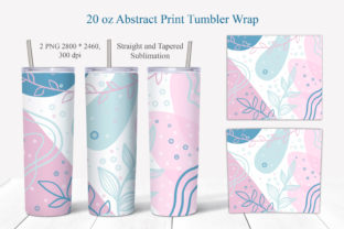 Print on Demand: 20 Oz Abstract Tumbler Sublimation PNG Graphic Crafts By LerVik