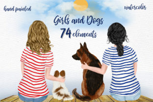 Print on Demand: Best Friends Clipart Dogs Clipart BFF Graphic Illustrations By LeCoqDesign