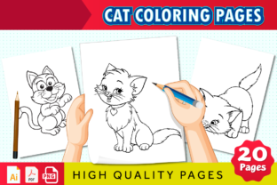 Lovely Cat Coloring Book - 20 Pages Graphic Coloring Pages & Books By leroydesign