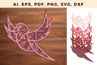 Print on Demand: Multi Layer Bird Laser Cut Ornament Graphic 3D SVG By NGISED