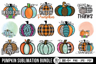 Pumpkin Sublimation Bundle   Fall PNG Graphic Crafts By CraftlabSVG