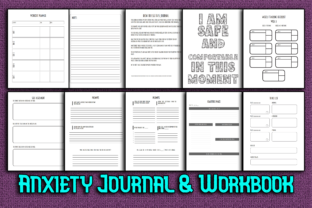 Print on Demand: Anxiety Journal & Workbook with Prompts Graphic KDP Interiors By Mary's Designs