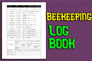 Print on Demand: Beekeeping Log Book Graphic KDP Interiors By Mary's Designs