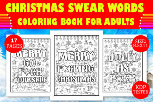 Print on Demand: Christmas Swear Word Coloring Book Graphic Coloring Pages & Books Adults By Design Empire