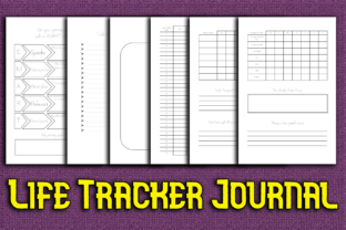 Print on Demand: Life Tracker Journal Workbook / Log Book Graphic KDP Interiors By Mary's Designs