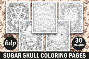 Sugar Skull Coloring Book for Adult Graphic Coloring Pages & Books Adults By Creative Design Studio