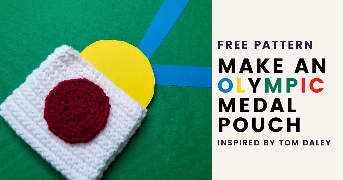 Crochet an Olympic Medal Pouch Inspired by Tom Daley
