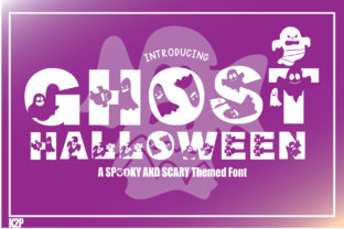 Print on Demand: Ghost Halloween Decorative Font By KtwoP