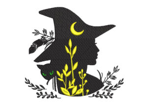 Halloween Witch Halloween Embroidery Design By Canada Crafts Studio
