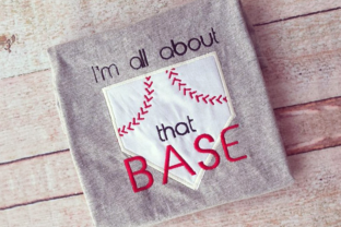 I'm All About That Baseball Sports Embroidery Design By DesignedByGeeks