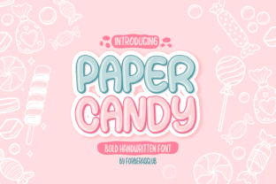 Print on Demand: Paper Candy Script & Handwritten Font By Forberas Club