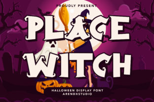 Print on Demand: Place Witch Display Font By Arendxstudio