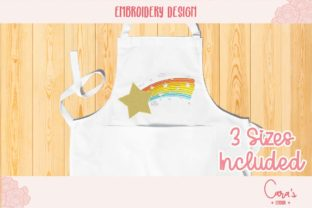 Rainbow Star Bedroom Embroidery Design By carasembor