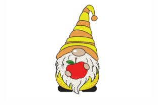 School Gnome Back to School Embroidery Design By NinoEmbroidery
