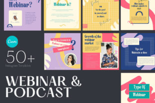 Webinar & Podcast   CANVA Template Graphic Web Elements By qohhaarqhaz