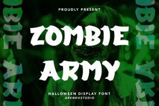 Print on Demand: Zombie Army Display Font By Arendxstudio