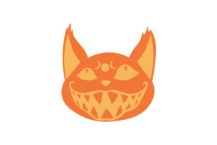 Halloween Floating Cat Face Halloween Craft Cut File By Creative Fabrica Crafts
