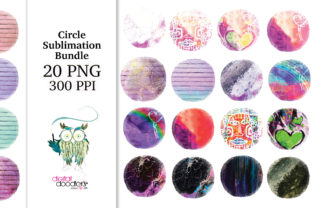 Print on Demand: Circle Distressed Sublimation Bundle Graphic Textures By Digital Doodlers