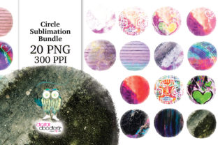 Print on Demand: Circle Distressed Sublimation Bundle Graphic Textures By Digital Doodlers 10