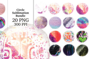 Print on Demand: Circle Distressed Sublimation Bundle Graphic Textures By Digital Doodlers 11