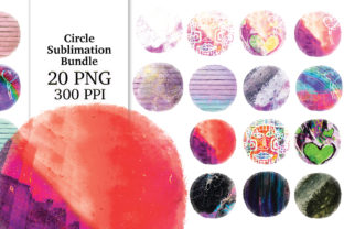 Print on Demand: Circle Distressed Sublimation Bundle Graphic Textures By Digital Doodlers 12