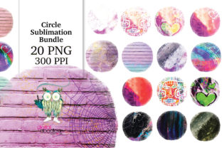 Print on Demand: Circle Distressed Sublimation Bundle Graphic Textures By Digital Doodlers 9